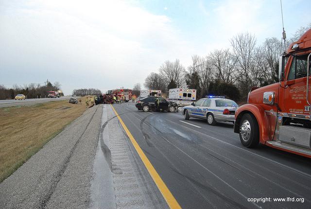 Multi-vehicle Accident Shuts Down 71 North - LaGrange Fire & Rescue