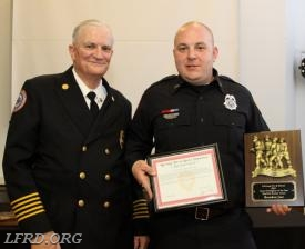Firefighter Brandon Just - Career Firefighter of the Year