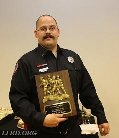 Firefighter Sam Krebs - Volunteer Firefighter of the Year